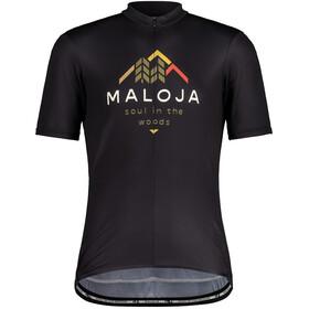 Maloja SchwarzerleM. 1/2 Maglietta da Ciclismo a Maniche Corte Uomo, nero